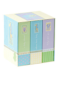 Burnes of Boston Baby Timeline 3-piece 4x6 Album Gift Set
