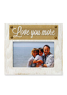 New View Burlap Ribbon Love You More 4 x 6 Frame