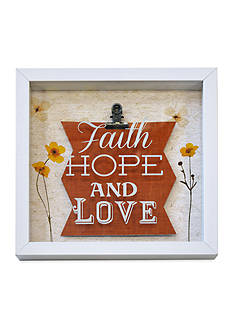 New View Faith, Hope, and Love Shadowbox