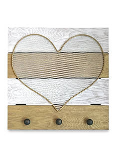 New View Gold Mesh Heart Jewelry Hanger