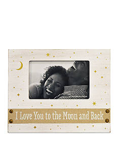 New View I Love You to the Moon and Back Burlap 4x6 Frame