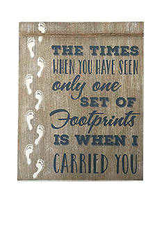 New View Footprint in the Sand Wooden Plaque