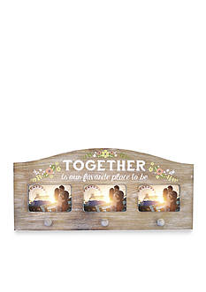 New View 'Together is our Favorite Place to be' Wall Hooks Frame