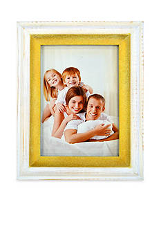 New View White Wash and Gold 4x6 Frame