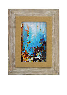 New View Burlap Filet Frame Graywash 5x7 Frame