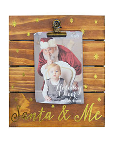 New View Santa & Me Rustic Clip 4x6 Photo Frame