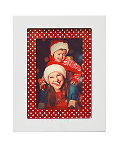 New View White Frame with Red Dot 5x7 Frame