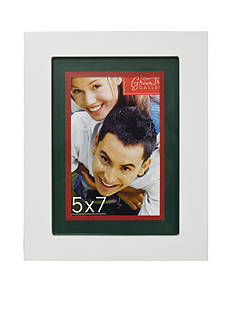 New View White with Green Red Matt 5x7 Frame