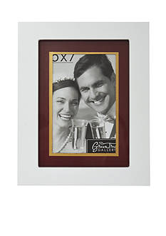 New View White with Red/Gold Matte 5x7 Frame
