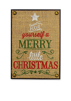 New View Have yourself a Merry little Christmas Plaque