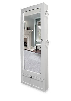 New View Over the Door Jewelry Armoire - White