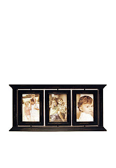 New View Antique Elegance Black Swivel Tabletop Triple 4x6 Frame