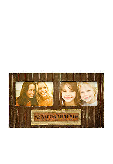 New View Antique Elegance Burlap Grandkids 6x4 Frame