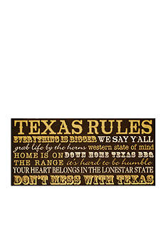 New View Texas Rules Plaque