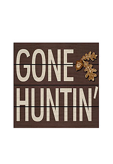 New View Lodge Gone Huntin' Plaque