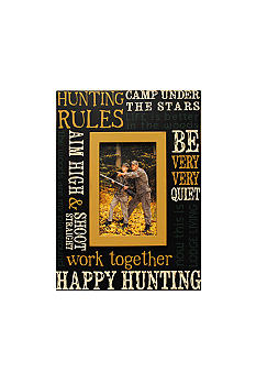 New View Lodge Hunting Rules 4x6 Frame