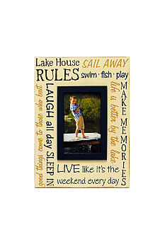 New View Lodge Lake House Rules 4x6 Frame
