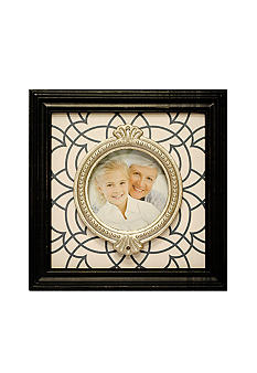 New View Antique Elegance Black Circle Motif 4x4 Frame