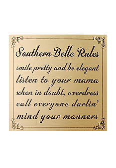 New View Southern Lady Plaque