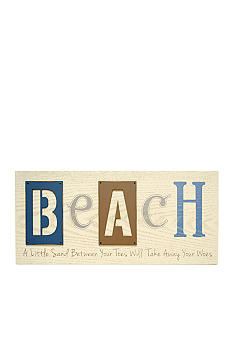 New View Beach Themed Wood Wall Plaque