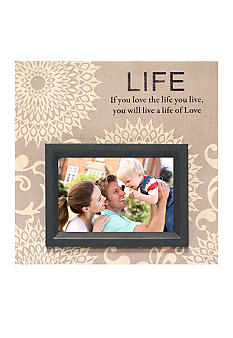 New View Life Canvas 4x6 Photo Frame