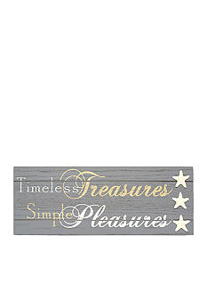 New View 'Timeless Treasures, Simple Pleasures' Wall Plaque