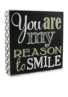 Fetco Home Decor You are my Reason to Smile Plaque