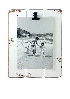Fetco Home Decor White Slats 4x6 Clip Frame