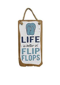 Fetco Home Decor Better in Flip Flops Plaque