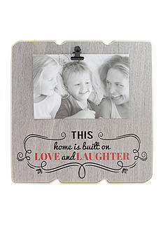 Fetco Home Decor Built on Love and Laughter 4x6 Clip Frame