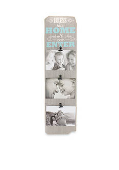 Fetco Home Decor Bless This Home And All Who Enter 4x6 Triple Clip Frame