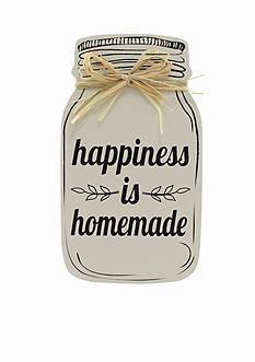 Fetco Home Decor MASON ART - HAPPINESS IS HOMEMADE