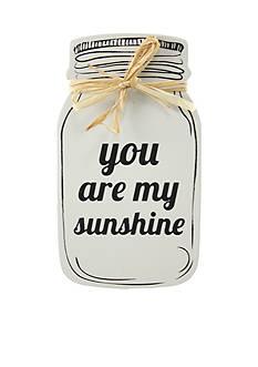 Fetco Home Decor 'You Are My Sunshine' Mason Plaque