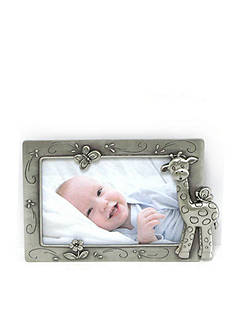 Fetco Home Decor Baby Giraffe Pewter 4x6 Frame