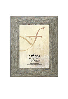 Fetco Home Decor Farmhouse Grey Wood 5x7 Frame