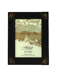 Fetco Home Decor Farmhouse Rivet Corners 5x7 Frame