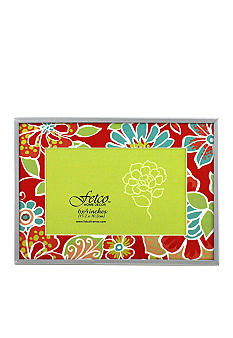 Fetco Home Decor Elkton Garden Party Orange Floral 4x6 Photo Frame