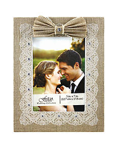 Fetco Home Decor Burlap 5x7 Frame