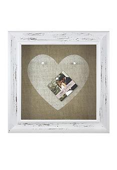 Fetco Home Decor Burlap Open Frame Heart Pin Board Belk