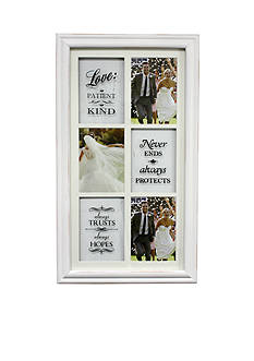 Fetco Home Decor Leighane 'Love is' Wedding Frame Windowpane Collage