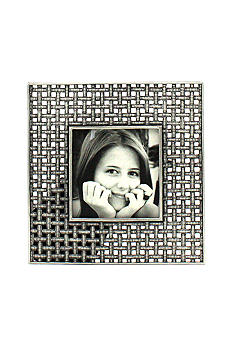 Fetco Home Decor Montage Beaded 3x3 Pewter Frame