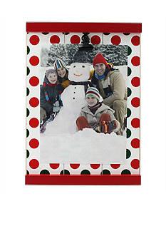 Fetco Home Decor Polka Dot Holiday Clip 4x6 Frame