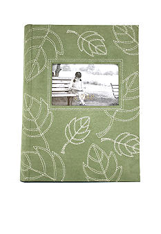 Fetco Home Decor Lola Green Leaves 3-up Photo Album