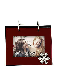 Fetco Home Decor Red Winter Snowflake Flip Album