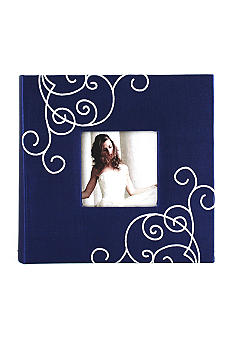 Fetco Home Decor Blue Silkscreen Floral 2 Up 4x6 Album