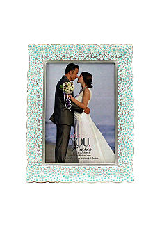 Fetco Home Decor Blue Floral 5x7 Frame