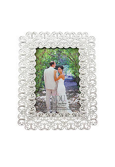 Fetco Home Decor Silver Payson Heart 5x7 Frame