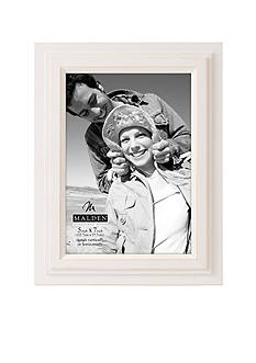 Malden White Stepped 5x7 Frame