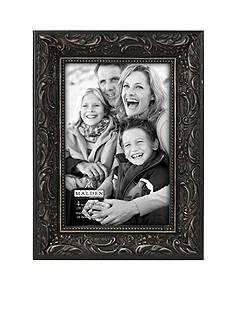 Malden Black Floral 4x6 Frame