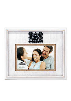 Malden Burlap Family is Forever 4x6 Frame